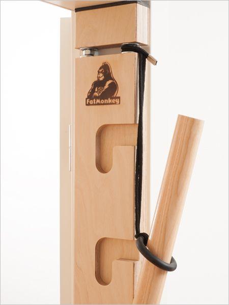 Fatmonkey Sprossenwand Gummiring Sprossenwand Fitnessstudio Zu Hause Carport Holz