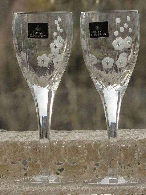 cee819c1e8ae Royal Doulton Sherry Glasses Hand Cut Glasses Dessert Wine