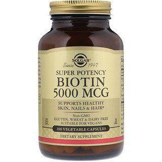 Solgar Biotin 5 000 Mcg 100 Vegetable Capsules Biotin Turmeric Curcumin