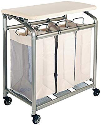 Amazon Com Seville Classics Mobile 3 Bag Heavy Duty Laundry