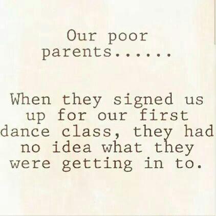 Thank your dance parents!