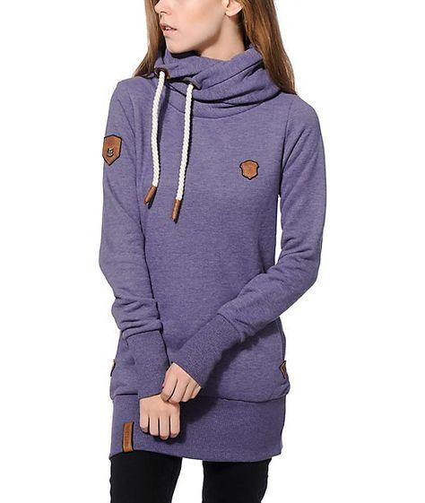 Naketano Darth II W hoodie purple heather