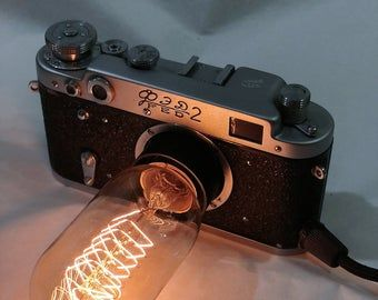 Zenit Photo Camera Lamp Retro Light Exclusive Decor Based On Ussr Vintage Cameras Gift For Photographer In 2020 Camera Lamp Camera Photo Vintage Cameras