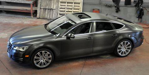 Brushed Black Aluminum Vinyl On Audi A7 Vinyl Wrap Car Car Wrap Audi A7