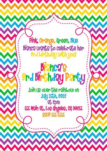 Unicorn invitation is great for any age. Pin By Amber Mullin On Rainbow Theme Rainbow Birthday Birthday Invitations Rainbow Birthday Invitations