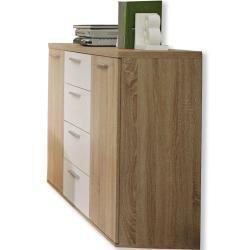 Kommode Sonoma Eiche Weiss 130 Cm Roller Kleiderschrank Pax In 2020 Filing Cabinet Home Decor Decor