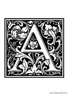 Alphabet Médiéval Lettrines En 2019 Lettrine Dessin A