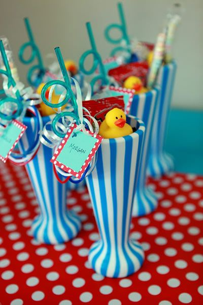9 Completely Awesome Pool Party Favor Ideas Pool Party Favors Pool Birthday Party 3 Year Old Birthday Party