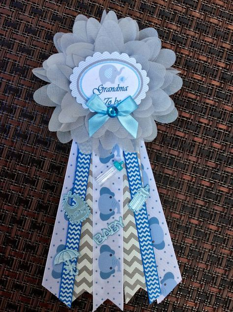 Small Baby Elephant Daddy Or Grandma Corsage Baby Elephant Theme