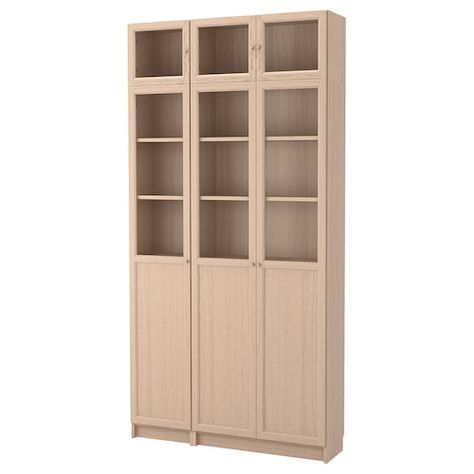 Libreria Ante Scorrevoli Vetro.Billy Oxberg Libreria Bianco 200x30x237 Cm Ikea Arredamento