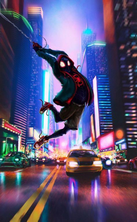 Spider-man, movie, art, spider-verse, 950x1534 wallpaper