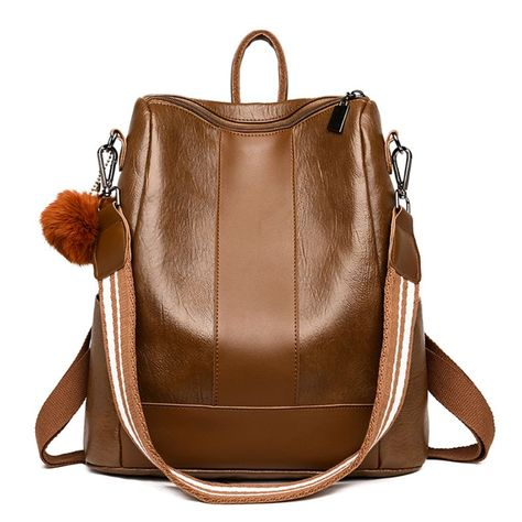 #pu #leather #retro #waterproof #shoulder #bag #anti-theft #schoolbag #backpack #for #women #girls #travel #use #supplies #birthday #gifts #backpacks