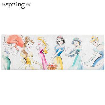 Pink Polka Dot Customized Princess Canvas Princess Canvas Diy Canvas Wall Art Princess Wall Art