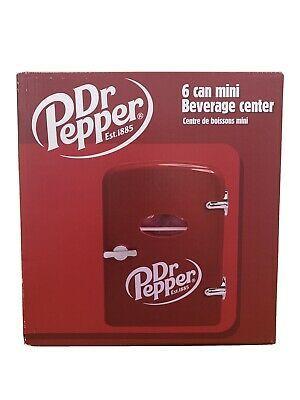 Dr Pepper 6 Can 10 Mini Fridge Refrigerator 120v And 12v Car Adapter In 2020 Mini Fridge Cool Mini Fridge Refrigerator Fridge