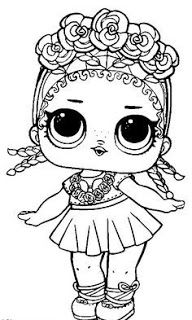 Little Lids Siobhan Lol Doll Colouring Pages Lol Dolls Colouring Pages Unicorn Coloring Pages