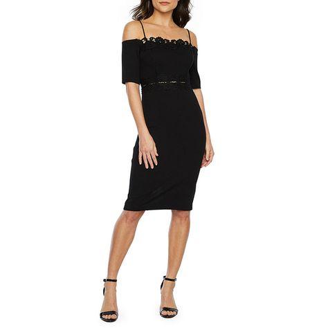 09073bf4e3 Premier Amour Short Sleeve Cold Shoulder Sheath Dress in 2019 ...