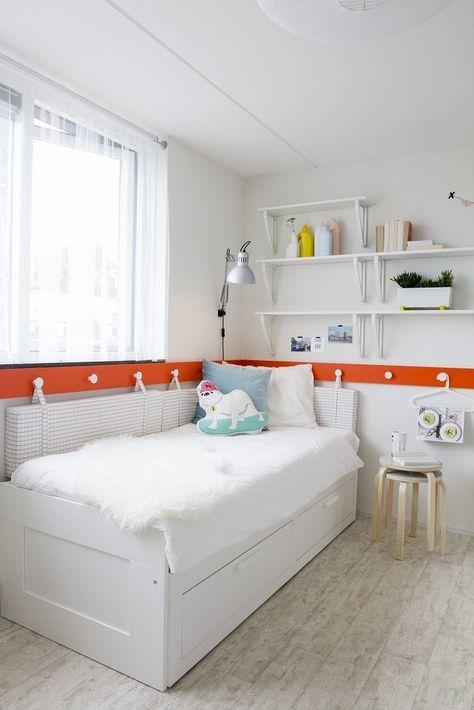 Ikea Tweepersoons Bedbank.Brimnes Bedbank Met 2 Lades Wit In 2019 Ikea Kinderkamer Ikea