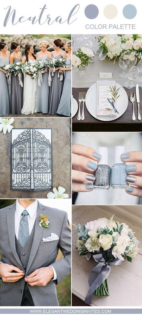 Neutral Wedding Color Palette Ideas