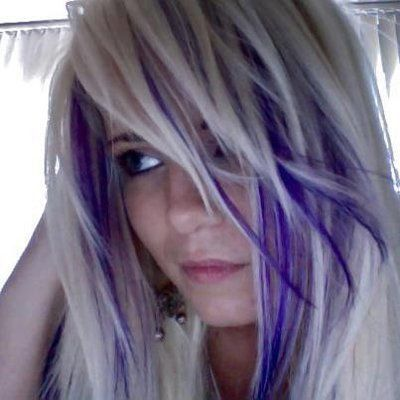 Image Result For Purple And Blond Hair Hair Highlights Platinum Blonde Hair Blonde Hair With Purple Streaks