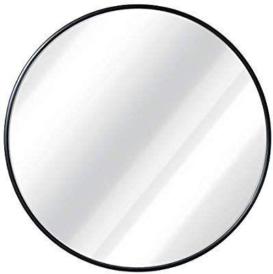 Amazon Com Black Round Wall Mirror 24 Inch Large Round Mirror Rustic Accent Mirror For Bathroom En Black Round Mirror Large Round Mirror Round Wall Mirror 24 inch round mirror