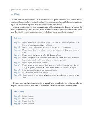 LAS RECETAS DE LA DIETA DEL METABOLISMO ACELERADO de Haylie Pomroy