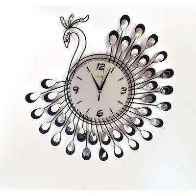 Meida Peacock Living Room Kitchen Wall Clock In 2020 Wall Clocks Living Room Kitchen Wall Clocks