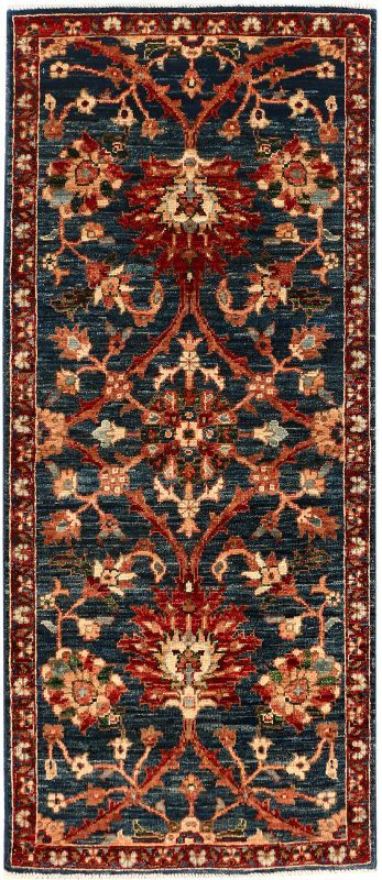 Ariana 2 1 X 4 11 Ft No 54004 Midnight Blue Expensive Rug Oriental