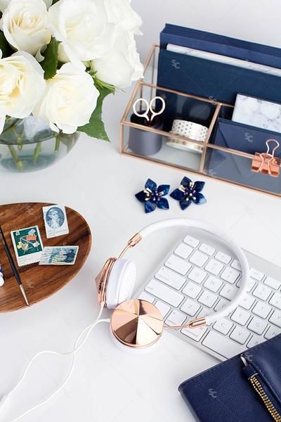 Styled Stock Photography Navy Desk Collection This Collection Of