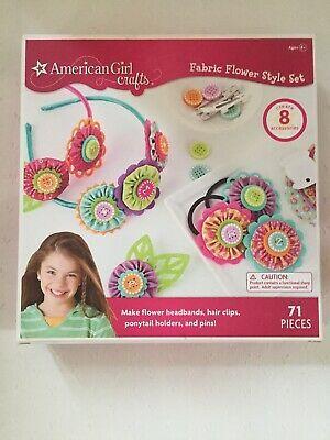 American Girl Craft Kit Fabric Flower Style Set New Ebay In 2020