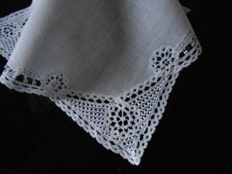 Bruiloft Handerchief Vintage zakdoek bruids zakdoek