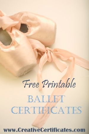 Free printable ballet certificates the business of dance - birthday certificate templates free printable