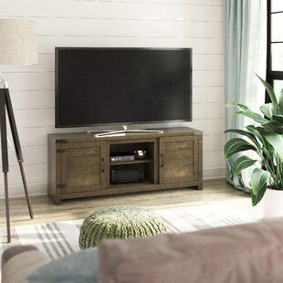 Mistana Whittier Tv Stand For Tvs Up To 60 Inches With Electric Fireplace Included Wayfair In 2020 Solid Wood Tv Stand Entertainment Center Tv Stand