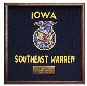 Frame your retired FFA jacket in this beautiful walnut deepbox frame. http://shop.ffa.org/walnut-jacket-display-frame-p41917.aspx