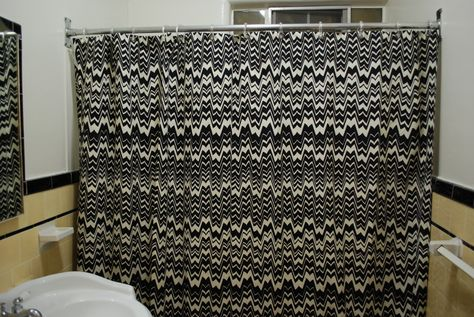 Missoni For Target Black And White Shower Curtain