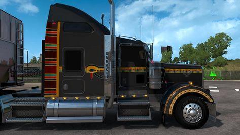 Ats Kenworth W900 Egyptian Custom 1 38 X Trucks American Truck Simulator Kenworth