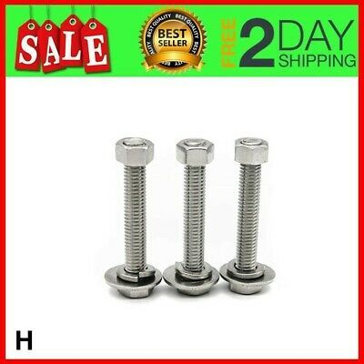 Details About 10 Hex Bolts Sets 1 4 20x1 Stainless Steel Head Screws Bolts Nuts Flat In 2020 Hex Bolt Chrome Ball Stainless