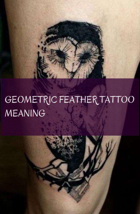 Geometric Feather Tattoo Meaning Geometrische Feder Tattoo