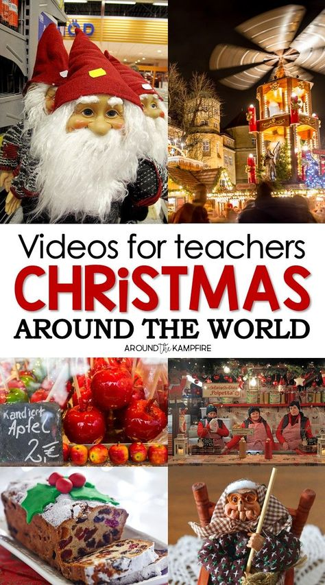 Holidays Around the World videos for teachers that feature unique customs and Christmas traditions in 15 different countries. Make your holiday lesson come alive with these amazing videos for teachers!