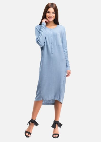 3193d192033 Трикотажное платье с планкой на пуговицах в 2019 г.