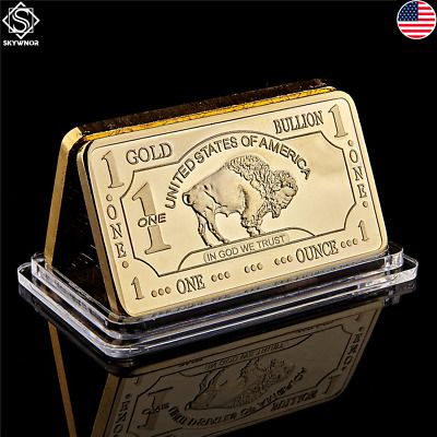 Bullion United States Of America Fine Gold 100 Mills 999 Mint 1 Troy Ounce Buffalo Bar Usage Home Of Silver Bullion Bullion Business Holiday Gift