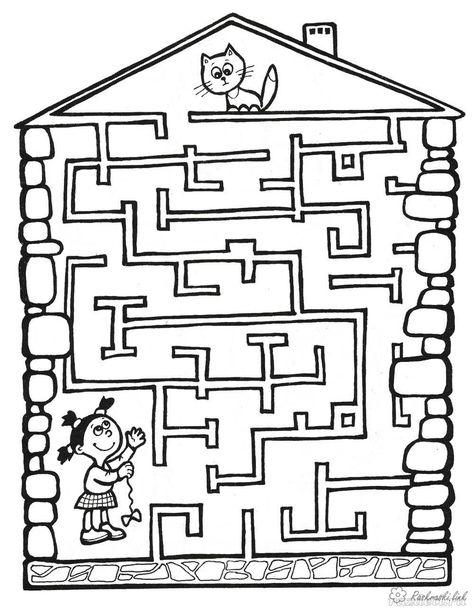 Raskraski Raskraska Labirint Detskaya Raskraska Labirint Detskie Raskraski Labirint