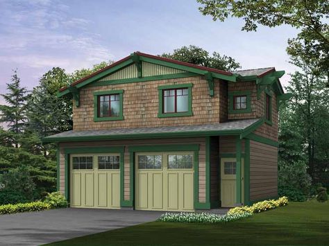 Eplans Craftsman Plan - Craftsman Garage Wtih Studio Above - 565 Square Feet and 1 Bedroom from Eplans - House Plan Code HWEPL64120