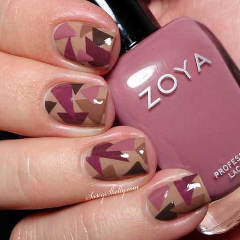 Zoya Naturel Deux collection DIY nail decals abstract triangles manicure  |  Sassy Shelly