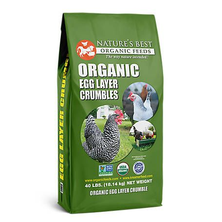 Nature S Best Organic Egg Layer Crumbles 40 Lb At Tractor Supply Co Organic Eggs Best Egg Laying Chickens Egg Laying Chickens