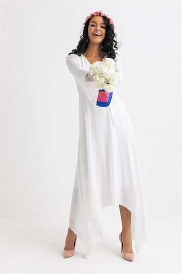 Nikah Abiyeleri Ve Nikah Elbiseleri Deniz Butik Midi Elbise Elbiseler Elbise