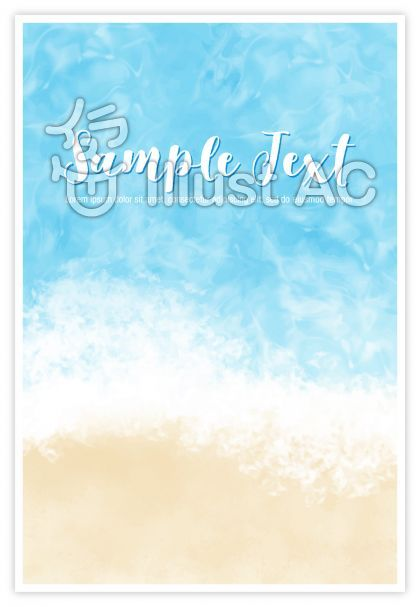 ビーチイメージの背景素材 タテ 画像あり 夏イラスト 海