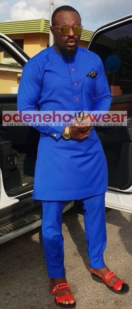 Odeneho wear homme poli Coton Top et Bas African CLOTHING.