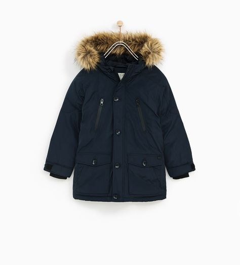 Zara Lining Detachable Chaquetas With Kids Parka IHqCwxHrB