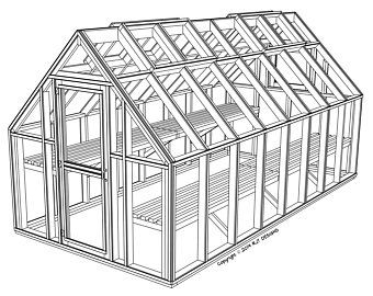 6 10 X 8 0 Greenhouse Plans Printed Version With Images