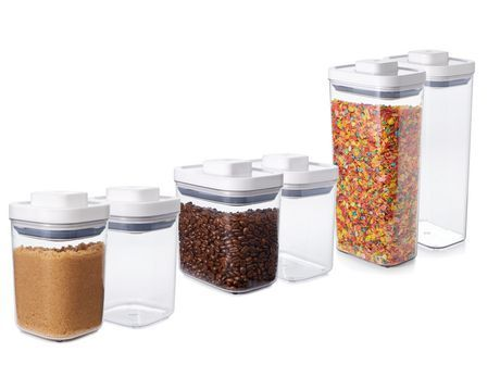 Oxo Softworks Oxo 6 Piece Pop Container Set White Clear Assorted